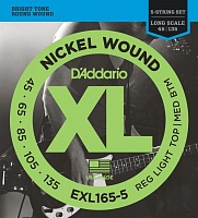 D`Addario EXL165-5 XL NICKEL WOUND